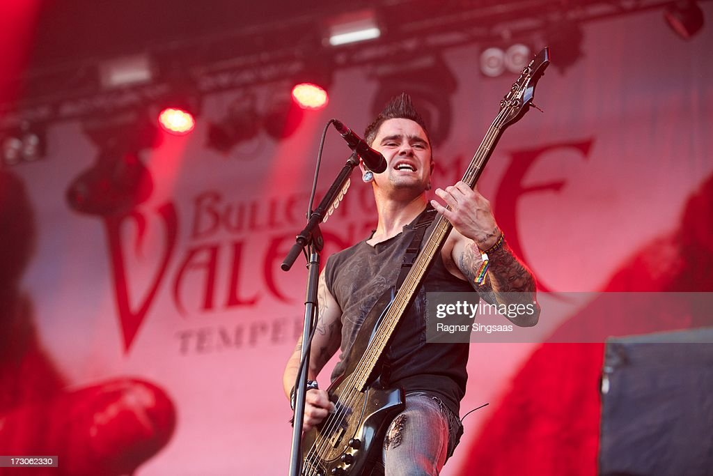 Jason James of Bullet For My Valentine performs on stage on Day 4 of Hove Festival 2013 on July 5, 2013 in Arendal, Norway.