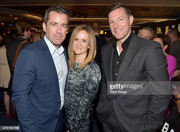 Jason Jones Samantha Bee and Ed Burns attend the Turner Upfront 2015 at Madison Square Garden on May 13 2015 in New York City JPG