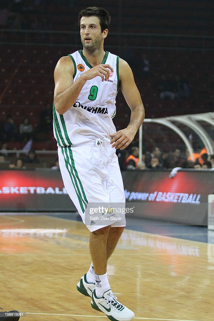 <a gi-track='captionPersonalityLinkClicked' href=/galleries/search?phrase=Jason+Kapono&family=editorial&specificpeople=203032 ng-click='$event.stopPropagation()'>Jason Kapono</a> #9 of Panathinaikos Athens in action during the 2012-2013 Turkish Airlines Euroleague Top 16 Date 2 between Anadolu EFES Istanbul v Panathinaikos Athens at Abdi Ipekci Sports Arena on January 3, 2013 in Istanbul, Turkey.