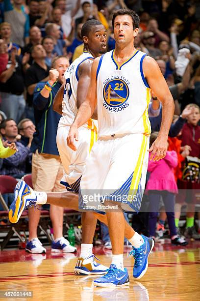 Jason Kapono of the Golden State Warriors walks off the court during the game against the Denver Nuggets at the NBA PreSeason game on October 16 2014...