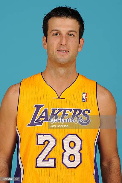 Jason Kapono of the Los Angeles Lakers poses for a photo during Media Day at Toyota Sports Center on December 11 2011 in El Segundo California NOTE...