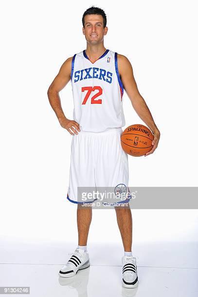 Jason Kapono of the Philadelphia 76ers poses for a portrait during 2009 NBA Media Day on September 28 2009 at Wachovia Center in Philadelphia...