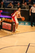 Jason Kapono of the Toronto Raptors shoots during the Foot Locker ThreePoint Shootout part of 2008 NBA AllStar Weekend at the New Orleans Arena on...