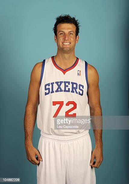 Jason Kapono poses for a photo during the Philadelphia 76ers media day on September 27 2010 at Wells Fargo Center in Philadelphia Pennsylvania NOTE...