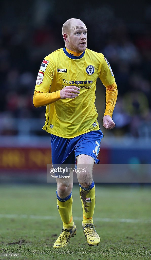 Jason Kennedy of Rochdale in action during the npower League Two match between Northampton Town and Rochdale at Sixfields Stadium on February 9, 2013 in Northampton, England.
