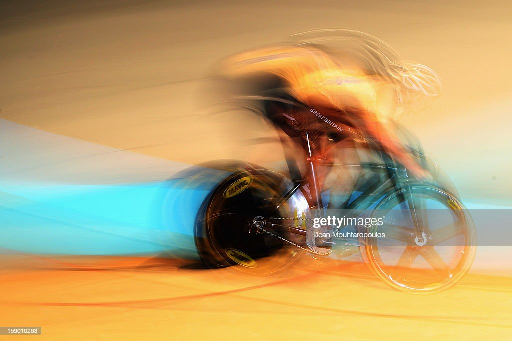 Jason Kenny of Great Britain competes in the Giant Sprint Masters during the Rotterdam 6 Day Cycling at Ahoy Rotterdam on January 5, 2013 in Rotterdam, Netherlands.