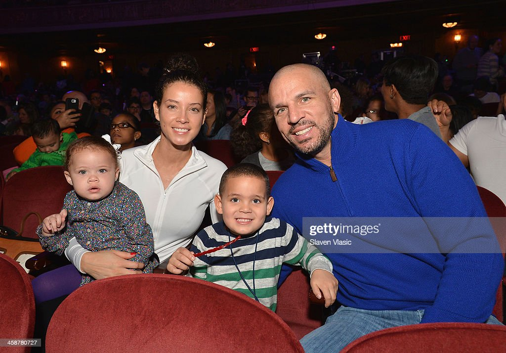 Jason Kidd (R) and wife Porschla Coleman with their children attend 'Yo Gabba Gabba! Live!' at The Beacon Theatre on December 21, 2013 in New York City.