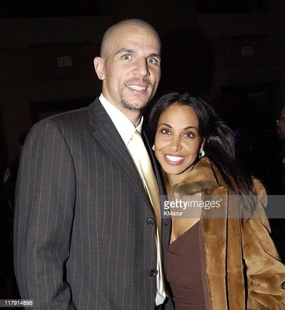 Jason Kidd from the NBA's New Jersey Nets and wife Joumana Kidd