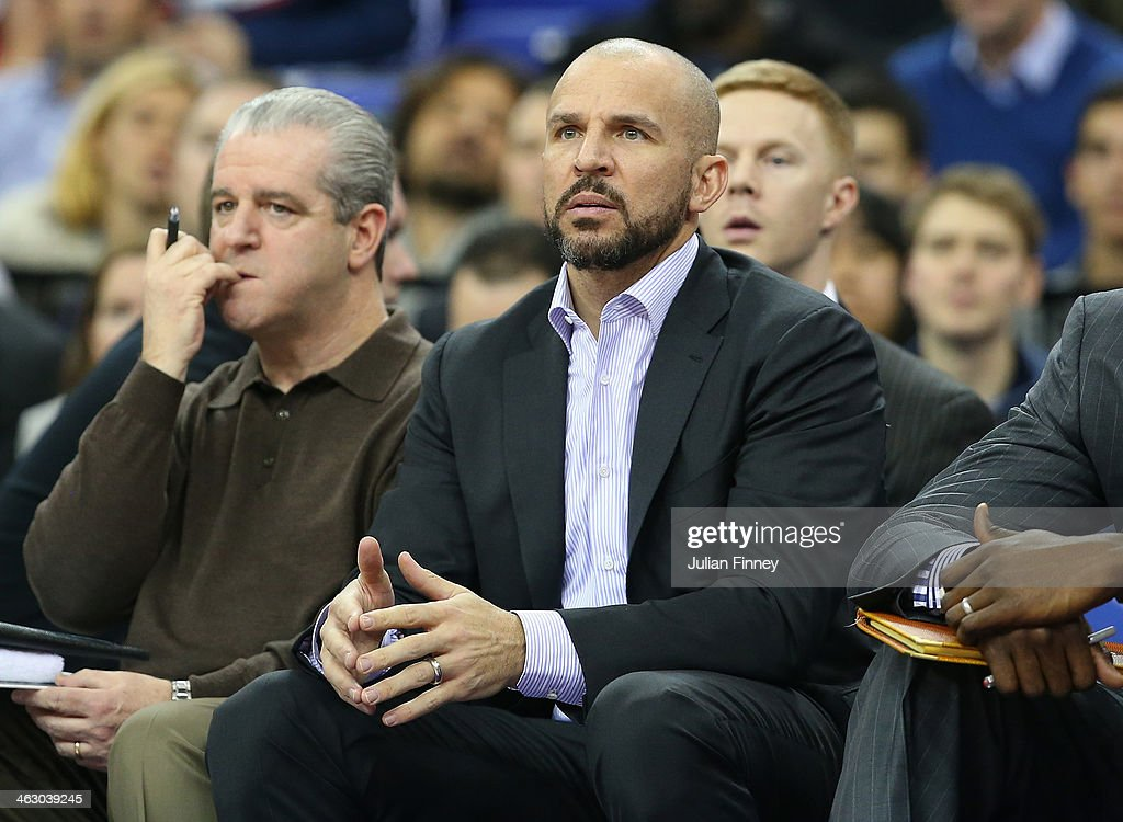 <a gi-track='captionPersonalityLinkClicked' href=/galleries/search?phrase=Jason+Kidd&family=editorial&specificpeople=201560 ng-click='$event.stopPropagation()'>Jason Kidd</a>, head coach of Brooklyn Nets looks on during the Eastern Conference NBA match between Brooklyn Nets and Atlanta Hawks at O2 Arena on January 16, 2014 in London, England.