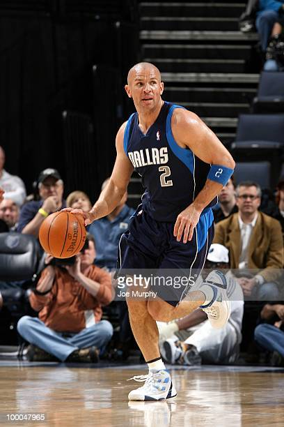 Jason Kidd of the Dallas Mavericks drives the ball up court during the game against the Memphis Grizzlies at the FedExForum on March 31 2010 in...