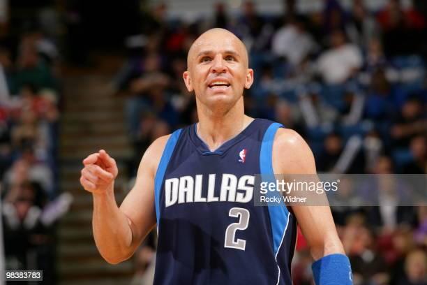Jason Kidd of the Dallas Mavericks gets ready to take on the Sacramento Kings on April 10 2010 at ARCO Arena in Sacramento California NOTE TO USER...