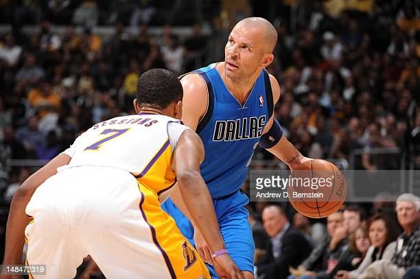 Jason Kidd of the Dallas Mavericks handles the ball against the Los Angeles Lakers on April 15 2012 in Los Angeles California NOTE TO USER User...