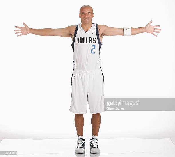 Jason Kidd of the Dallas Mavericks poses for a portrait during 2009 NBA Media Day on September 28 2009 at American Airlines Center in Dallas Texas...