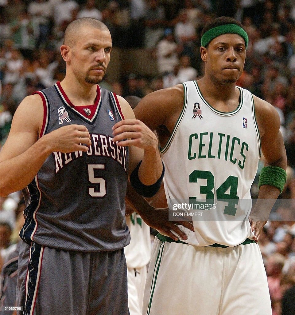 1ae2a2cc0 ... Jason Kidd (L) of the New Jersey Nets and Paul Pierce of the Boston ...