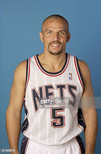 Jason Kidd of the New Jersey Nets poses for a portrait during NBA Media Day on October 4 2004 in East Rutherford New Jersey NOTE TO USER User...