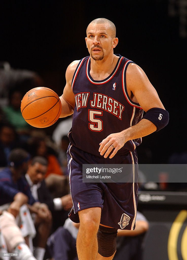 ... Jason Kidd 5 of the New Jersey Nets with the ball against the Washington  Wizards ... 0b4618881