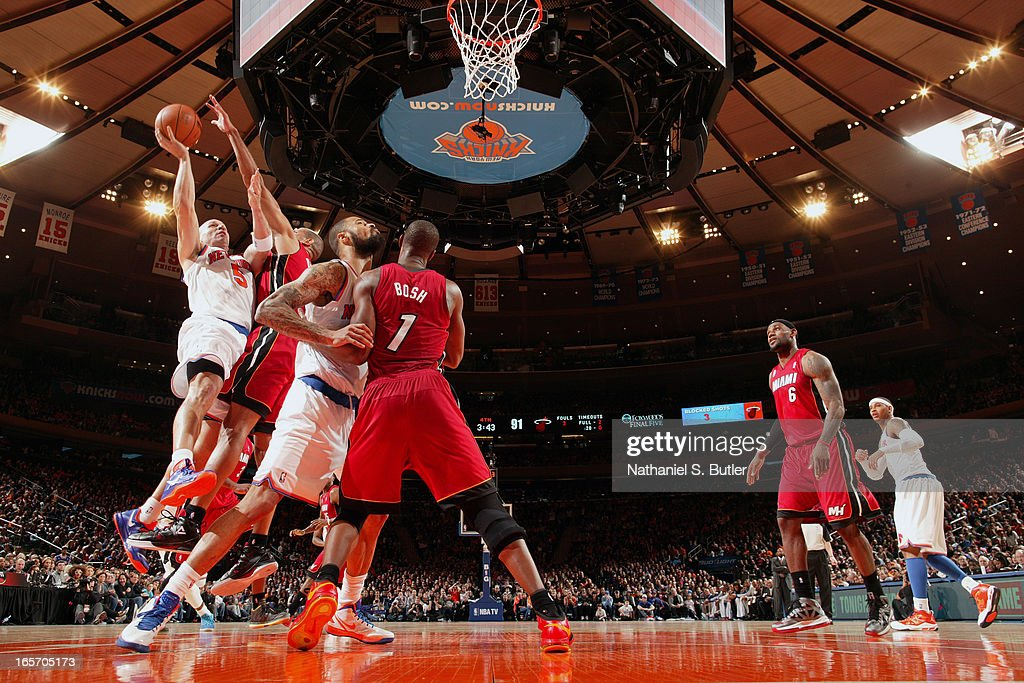 <a gi-track='captionPersonalityLinkClicked' href=/galleries/search?phrase=Jason+Kidd&family=editorial&specificpeople=201560 ng-click='$event.stopPropagation()'>Jason Kidd</a> #5 of the New York Knicks drives to the basket against the Miami Heat on March 3, 2013 at Madison Square Garden in New York City.