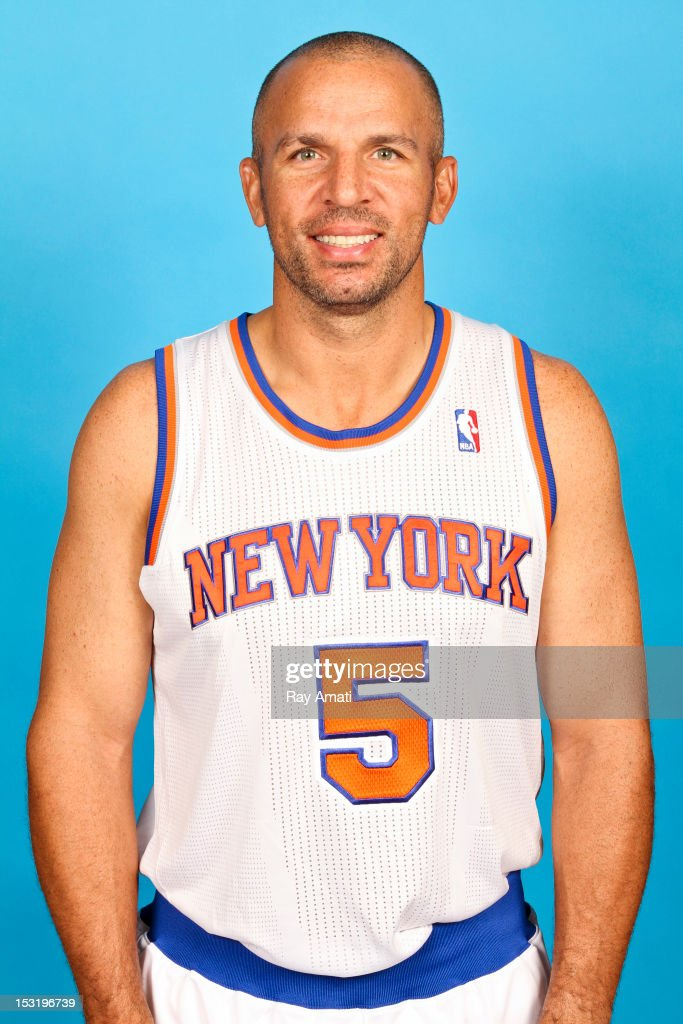 Jason Kidd #5 of the New York Knicks poses for a photo during the New York Knicks Media Day on October 1, 2012 at the Madison Square Garden Training Center in Tarrytown, New York.