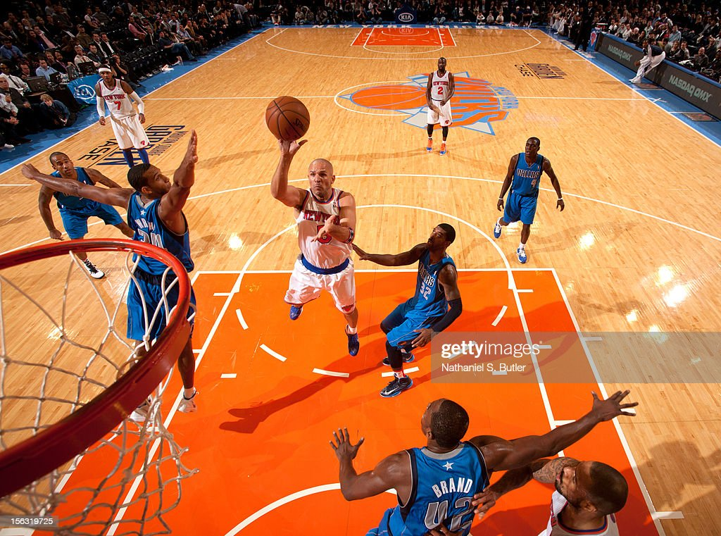 <a gi-track='captionPersonalityLinkClicked' href=/galleries/search?phrase=Jason+Kidd&family=editorial&specificpeople=201560 ng-click='$event.stopPropagation()'>Jason Kidd</a> #5 of the New York Knicks shoots against the Dallas Mavericks during the game on November 9, 2012 at Madison Square Garden in New York City.