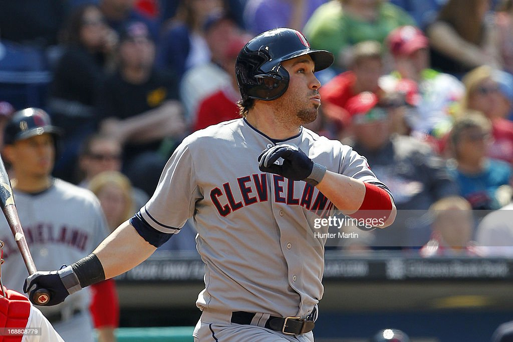 <a gi-track='captionPersonalityLinkClicked' href=/galleries/search?phrase=Jason+Kipnis&family=editorial&specificpeople=5330784 ng-click='$event.stopPropagation()'>Jason Kipnis</a> #22 of the Cleveland Indians hits a three run home run in the eighth inning during a game against the Philadelphia Phillies at Citizens Bank Park on May 15, 2013 in Philadelphia, Pennsylvania. The Indians won 10-4.