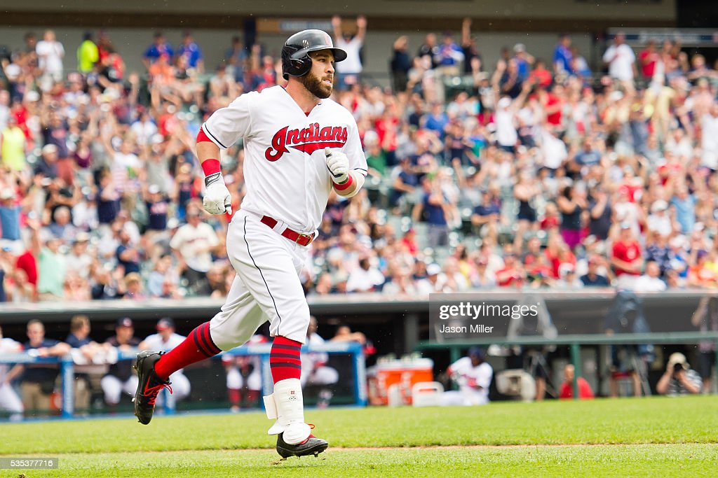 <a gi-track='captionPersonalityLinkClicked' href=/galleries/search?phrase=Jason+Kipnis&family=editorial&specificpeople=5330784 ng-click='$event.stopPropagation()'>Jason Kipnis</a> #22 of the Cleveland Indians rounds the bases after hitting a solo home run during the sixth inning against the Baltimore Orioles at Progressive Field on May 29, 2016 in Cleveland, Ohio.