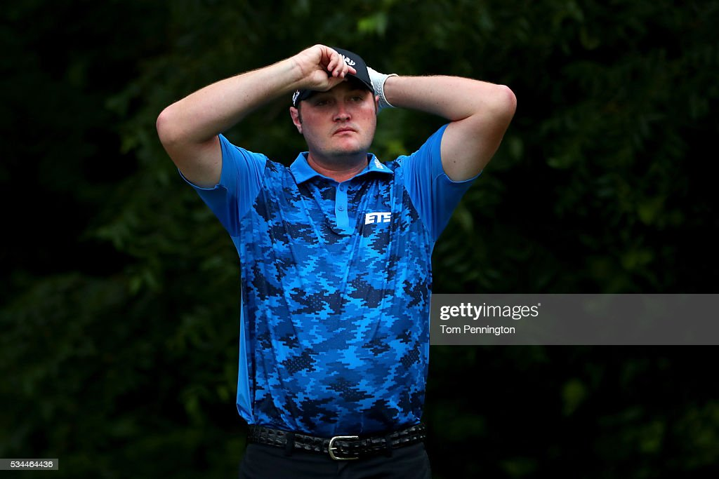 <a gi-track='captionPersonalityLinkClicked' href=/galleries/search?phrase=Jason+Kokrak&family=editorial&specificpeople=4466691 ng-click='$event.stopPropagation()'>Jason Kokrak</a> looks on from the 6th tee during the First Round of the DEAN & DELUCA Invitational at Colonial Country Club on May 26, 2016 in Fort Worth, Texas.