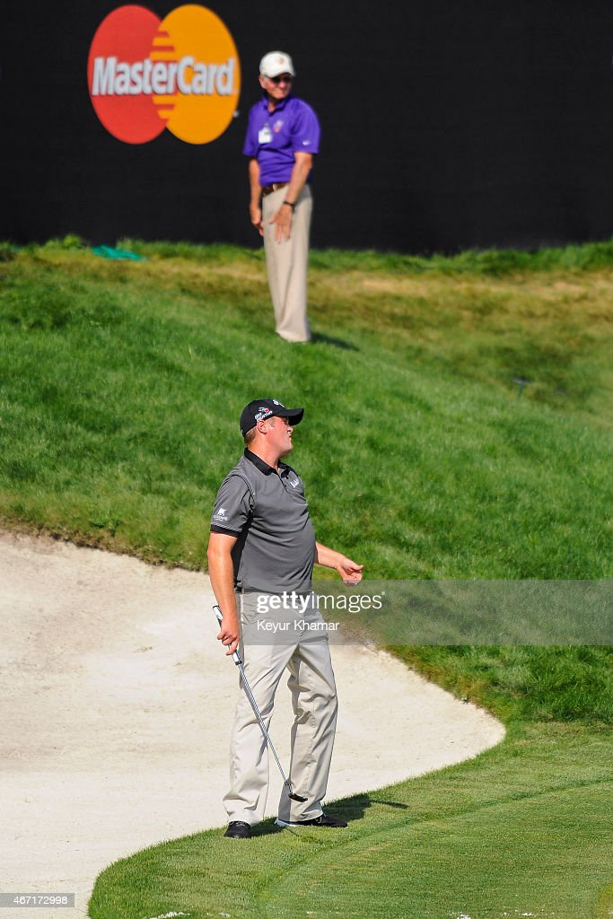 <a gi-track='captionPersonalityLinkClicked' href=/galleries/search?phrase=Jason+Kokrak&family=editorial&specificpeople=4466691 ng-click='$event.stopPropagation()'>Jason Kokrak</a> reacts to missing a birdie putt on the 18th hole green during the third round of the Arnold Palmer Invitational presented by MasterCard at the Bay Hill Club and Lodge on March 21, 2015 in Orlando, Florida.