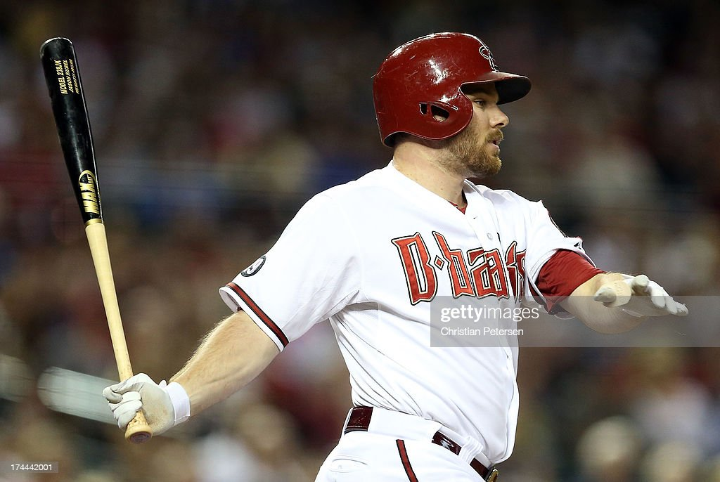 <a gi-track='captionPersonalityLinkClicked' href=/galleries/search?phrase=Jason+Kubel&family=editorial&specificpeople=575883 ng-click='$event.stopPropagation()'>Jason Kubel</a> #13 of the Arizona Diamondbacks bats against the Chicago Cubs during the MLB game at Chase Field on July 25, 2013 in Phoenix, Arizona.