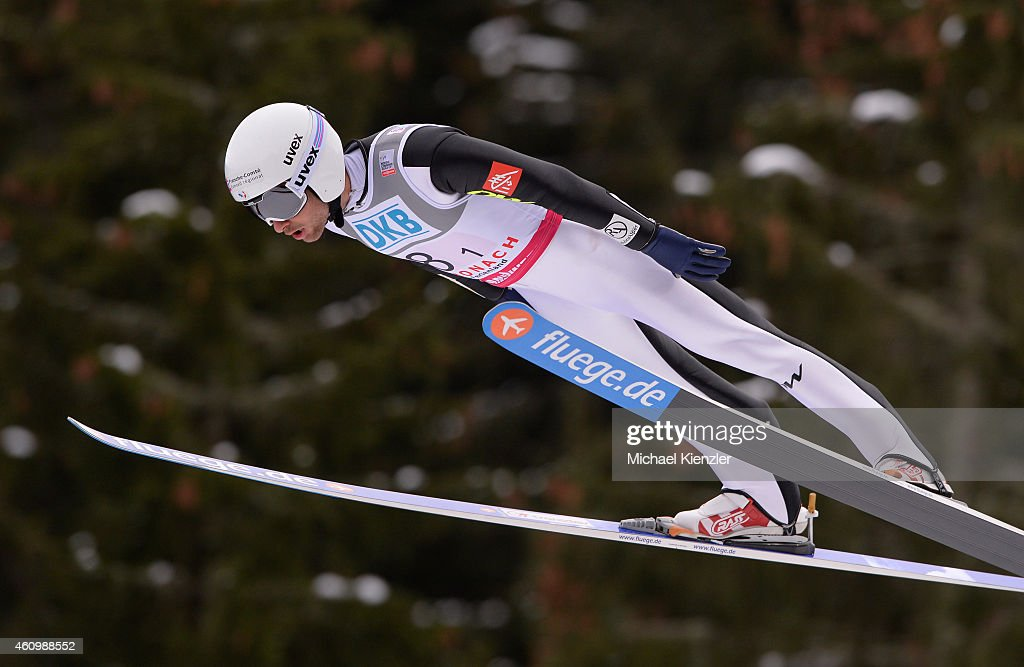 Jason Lamy Chappuis of France competes during Day One of the FIS Nordic Combined World Cup HS 106 Team Competition on January 3, 2015 in Schonach, Germany.