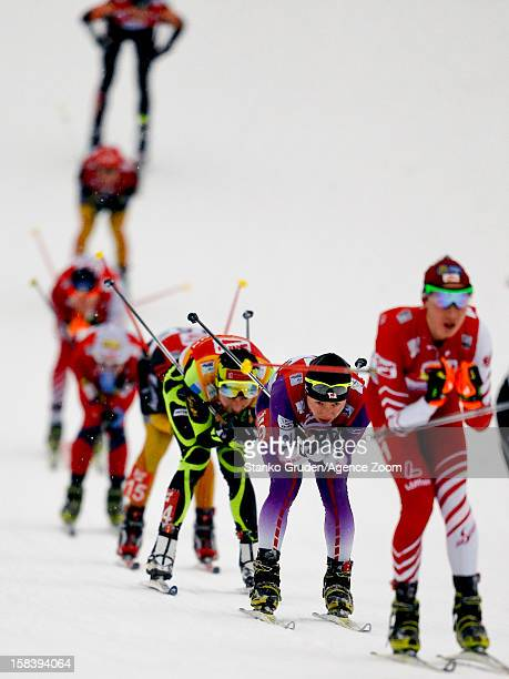 Jason Lamy Chappuis of France competes during the FIS Nordic Combined World Cup HS98/10km December 15 2012 in Ramsau Austria