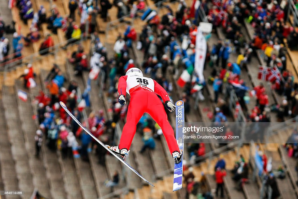 Jason Lamy Chappuis of France competes during the FIS Nordic World Ski Championships Men's Nordic Combined HS134/10k on February 26, 2015 in Falun, Sweden.