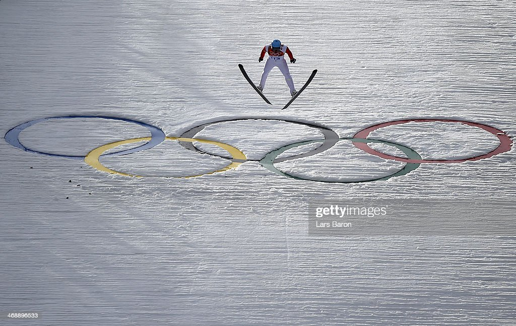 Jason Lamy Chappuis of France competes during the Nordic Combined Individual Gundersen Normal Hill and 10km Cross Country on day 5 of the Sochi 2014 Winter Olympics at the RusSki Gorki Ski Jumping Center on February 12, 2014 in Sochi, Russia.