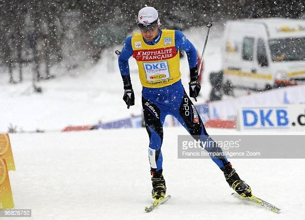 Jason Lamy Chappuis of France takes 2nd place during the DKB Nordic Combined FIS World Cup Gundersen HS100/10 km on January 17 2010 in ChauxNeuve...