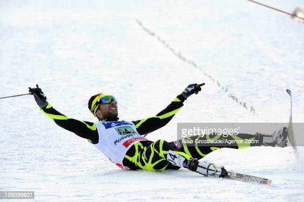 Jason LamyChappuis of France takes 3rd place during the FIS Nordic Combined World Cup Team Sprint on January 13 2013 in ChauxNeuve France