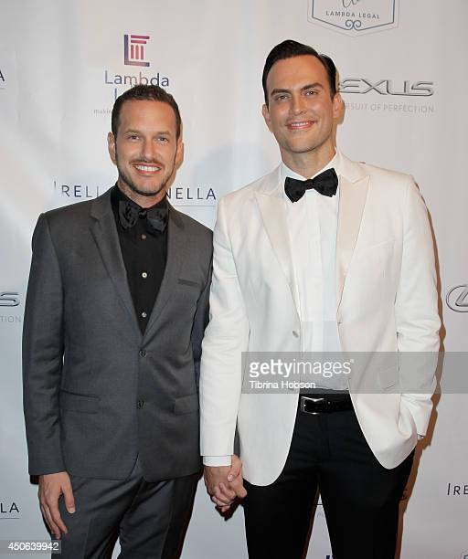 Jason Landau and Cheyenne Jackson attend the Lambda Legal 2014 West Coast Liberty Awards at the Beverly Wilshire Four Seasons Hotel on June 13 2014...