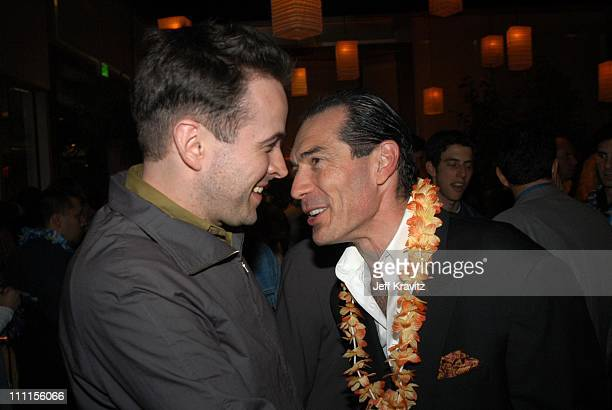 Jason Lee and Alex Yemenidjian during 'A Guy Thing' Premiere Party at Napa Valley Grill in Los Angeles CA United States