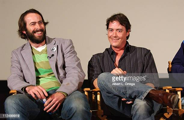 Jason Lee and Jeremy London during 10th Anniversary Screening and QA for 'Mallrats' at ArcLight Theater in Hollywood CA United States