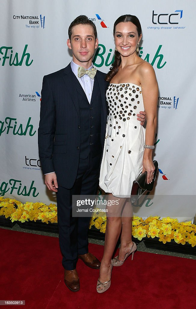 Jason Lee Garrett and actress Lara Siebert attend the 'Big Fish' Broadway Opening Night After Party at Roseland Ballroom on October 6, 2013 in New York City.