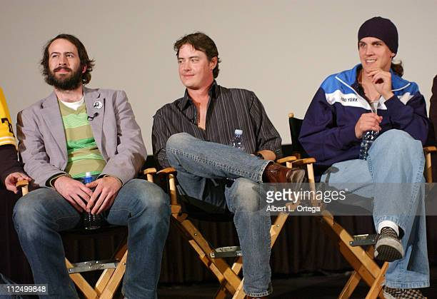 Jason Lee Jeremy London and Jason Mewes during 10th Anniversary Screening and QA for 'Mallrats' at ArcLight Theater in Hollywood CA United States