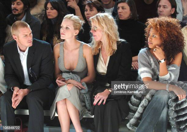 Jason Lewis Monet Mazur Valerie Mazur and Kelis during Olympus Fashion Week Fall 2004 Calvin Klein Front Row at The Atelier at Bryant Park in New...
