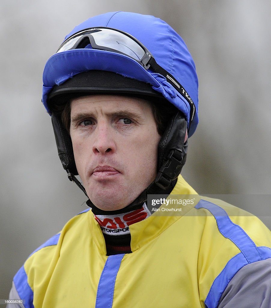 Jason Maguire poses at Kempton racecourse on January 25, 2013 in Sunbury, England. Show more - jason-maguire-poses-at-kempton-racecourse-on-january-25-2013-in-picture-id160038282