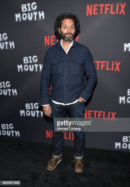 Jason Mantzoukas arrives at the premiere of Netflix's 'Big Mouth' at Break Room 86 on September 20 2017 in Los Angeles California