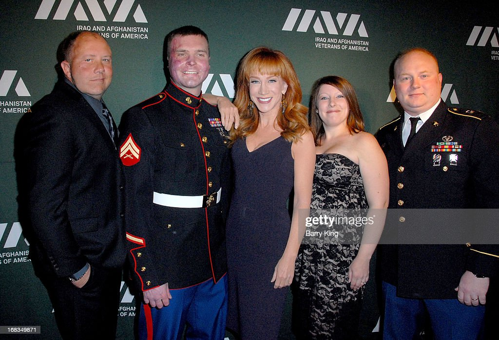 Jason March, Joe Piram, comedienne <a gi-track='captionPersonalityLinkClicked' href=/galleries/search?phrase=Kathy+Griffin&family=editorial&specificpeople=203161 ng-click='$event.stopPropagation()'>Kathy Griffin</a>, guest and Jason Williamson attend the Iraq And Afghanistan Veterans Of America's 5th Annual Heroes Celebration on May 8, 2013 at the Mr. C Beverly Hills in Beverly Hills, California.