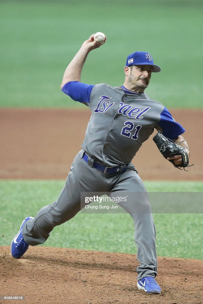 Jason Marquis #21 of Israel pitches in the third inning of the World Baseball Classic Pool A Game One between Israel and South Korea at Gocheok Sky Dome on March 6, 2017 in Seoul, South Korea.