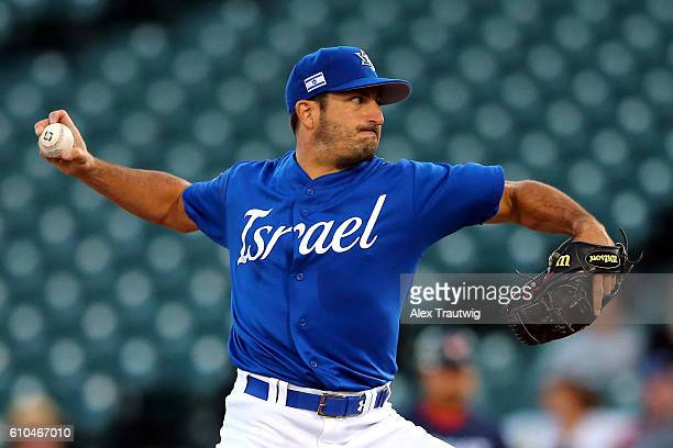 Jason Marquis of Team Israel pitches during Game 6 of the 2016 World Baseball Classic Qualifier at MCU Park on Sunday September 25 2016 in the...