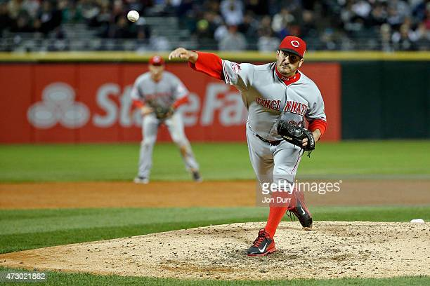 Jason Marquis of the Cincinnati Reds pitches against the Chicago White Sox during the third inning in the second game of a doubleheader on May 9 2015...
