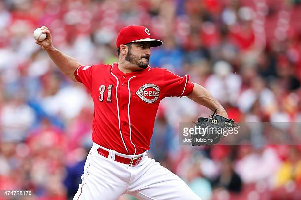 Jason Marquis of the Cincinnati Reds pitches in the first inning of the game against the Colorado Rockies at Great American Ball Park on May 25 2015...