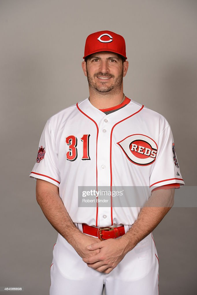 <a gi-track='captionPersonalityLinkClicked' href=/galleries/search?phrase=Jason+Marquis&family=editorial&specificpeople=210770 ng-click='$event.stopPropagation()'>Jason Marquis</a> #31 of the Cincinnati Reds poses during Photo Day on Thursday, February 26, 2015 at Goodyear Ballpark in Goodyear, Arizona.