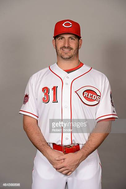 Jason Marquis of the Cincinnati Reds poses during Photo Day on Thursday February 26 2015 at Goodyear Ballpark in Goodyear Arizona