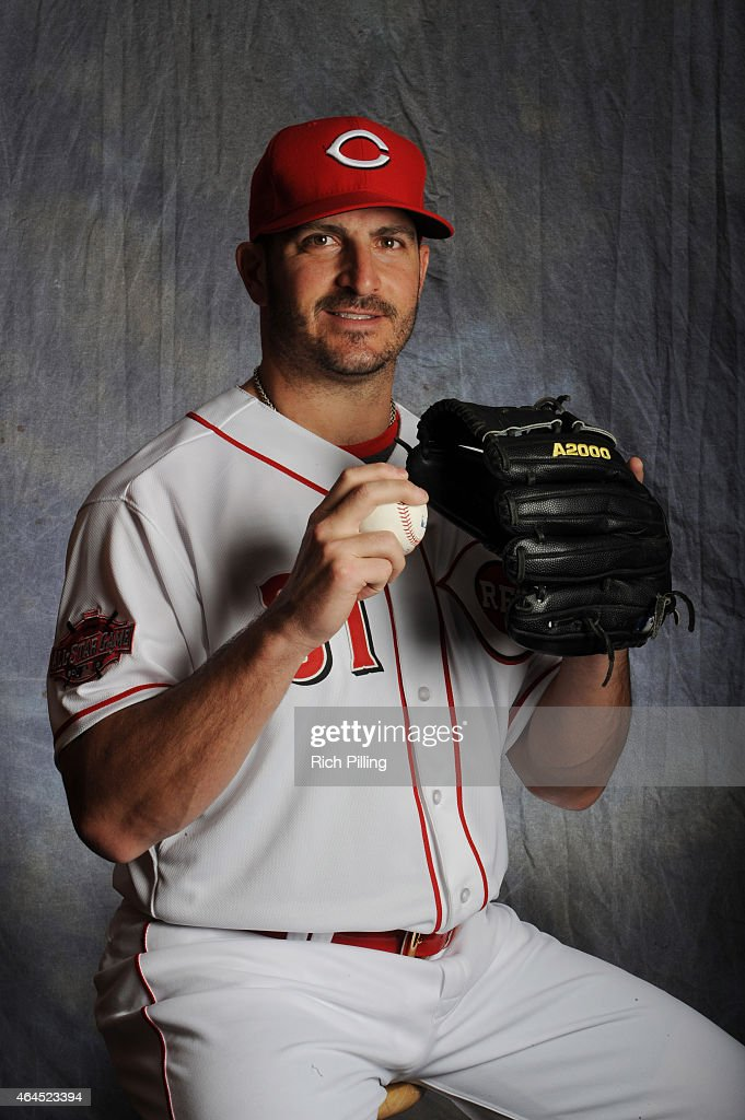 <a gi-track='captionPersonalityLinkClicked' href=/galleries/search?phrase=Jason+Marquis&family=editorial&specificpeople=210770 ng-click='$event.stopPropagation()'>Jason Marquis</a> #31 of the Cincinnati Reds poses for a portrait during Photo Day on February 26, 2015 at Goodyear Ballpark in Goodyear, Arizona.